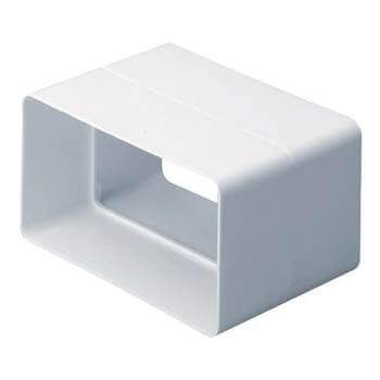 System 100 Rectangular Ventilation Duct Straight Connector - 110mm x 54mm
