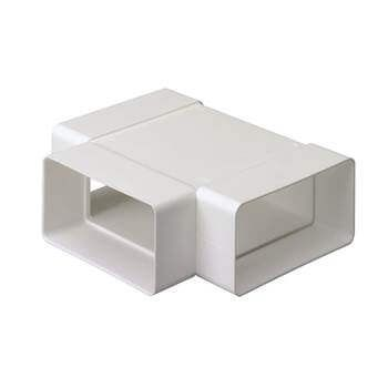 System 100 Rectangular Ventilation Duct Tee - 110mm x 54mm