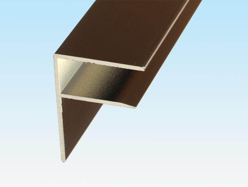 Aluminium F Section - 10mm x 3mtr Brown