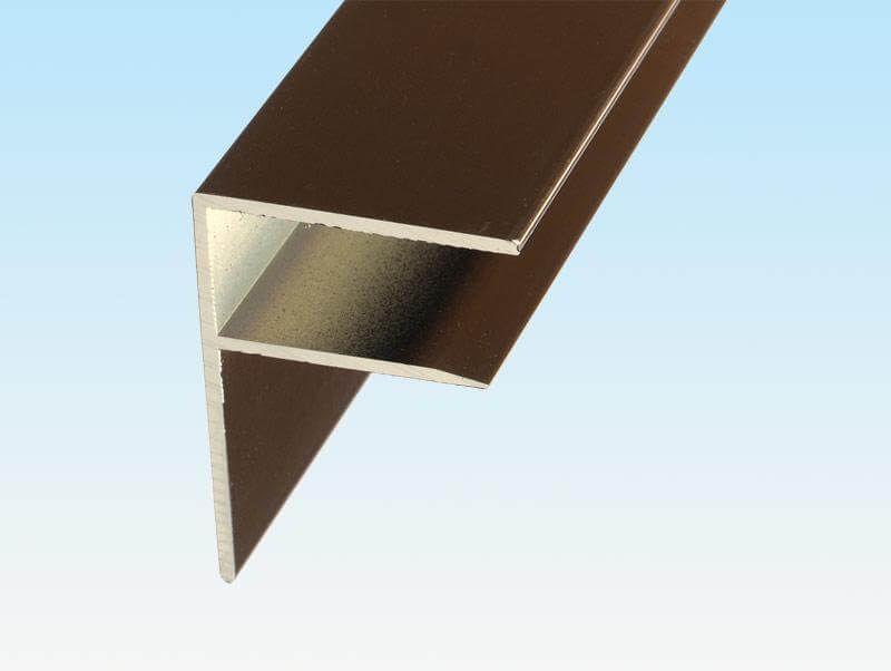 Aluminium F Section - 16mm x 3mtr Brown