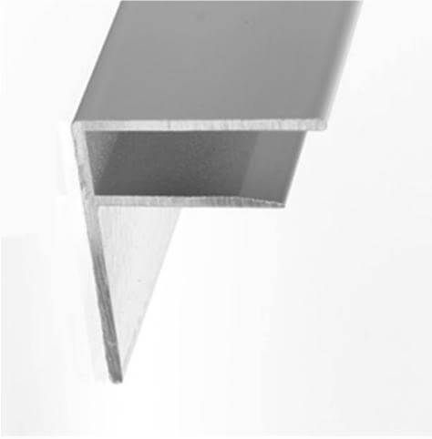 Aluminium F Section - 16mm x 3mtr White