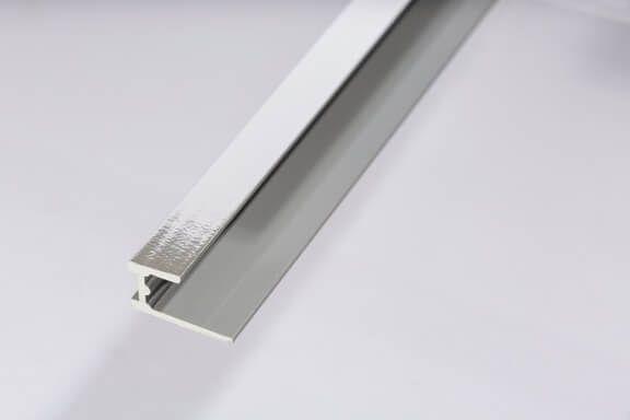 Bathroom & Shower Cladding Aqua1000 PVC Base Seal Trim - 2400mm x 10mm Chrome