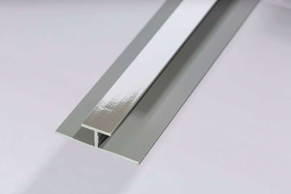 Bathroom & Shower Cladding Aqua1000 PVC Division Bar H Trim - 2400mm x 10mm Chrome