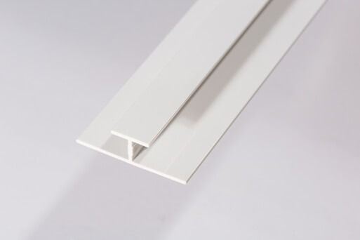 Bathroom & Shower Cladding Aqua1000 PVC Division Bar H Trim - 2400mm x 10mm White