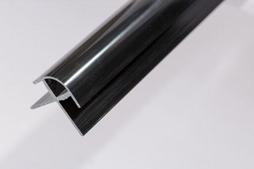 Bathroom & Shower Cladding Aqua1000 PVC External Corner - 2400mm x 10mm Black