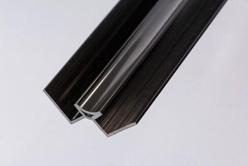 Bathroom & Shower Cladding Aqua1000 PVC Internal Corner - 2400mm x 10mm Black