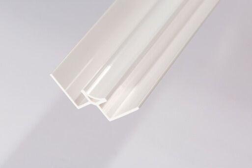 Bathroom & Shower Cladding Aqua1000 PVC Internal Corner - 2400mm x 10mm White