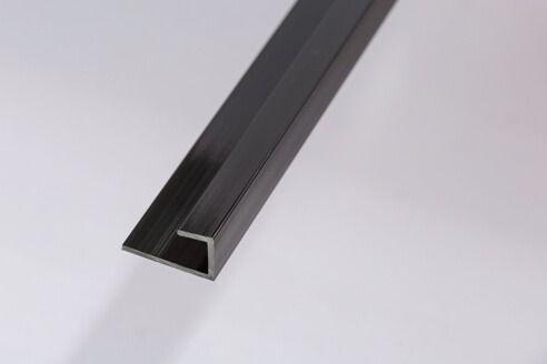Bathroom & Shower Cladding Aqua1000 PVC Starter/Edge Trim U Channel - 2400mm x 10mm Black