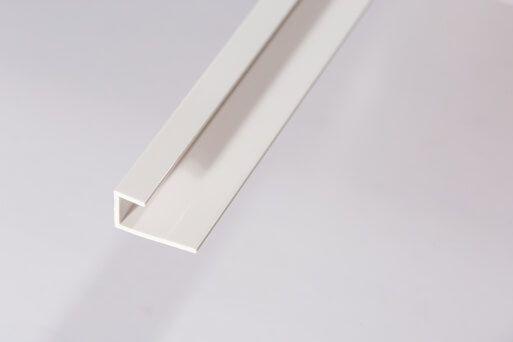 Bathroom & Shower Cladding Aqua1000 PVC Starter/Edge Trim U Channel - 2400mm x 10mm White