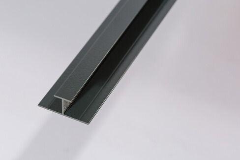 Bathroom & Shower Cladding Aqua1000 Aluminium Division Bar H Trim - 2400mm x 10mm Black
