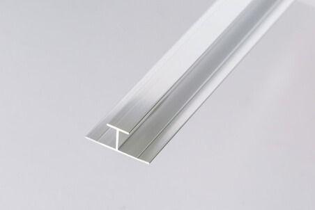 Bathroom & Shower Cladding Aqua1000 Aluminium Division Bar H Trim - 2400mm x 10mm Chrome