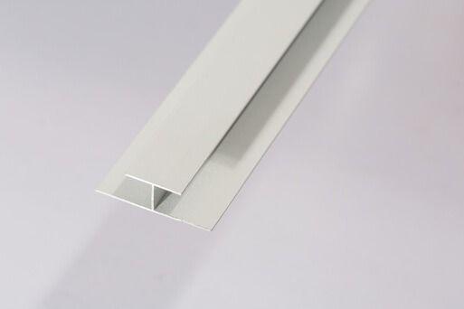 Bathroom & Shower Cladding Aqua1000 Aluminium Division Bar H Trim - 2400mm x 10mm White