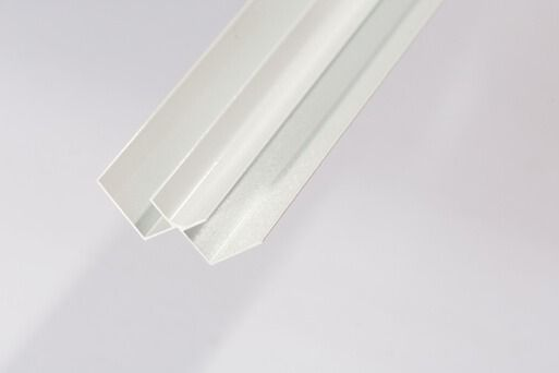 Bathroom & Shower Cladding Aqua1000 Aluminium Internal Corner - 2400mm x 10mm White