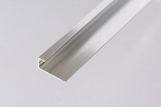 Bathroom & Shower Cladding Aqua1000 Aluminium Starter/Edge Trim U Channel - 2400mm x 10mm Chrome
