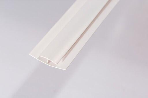 Bathroom & Kitchen Cladding Aqua200/250 PVC Division Bar H Trim for Wall/ Ceiling - 2700mm White