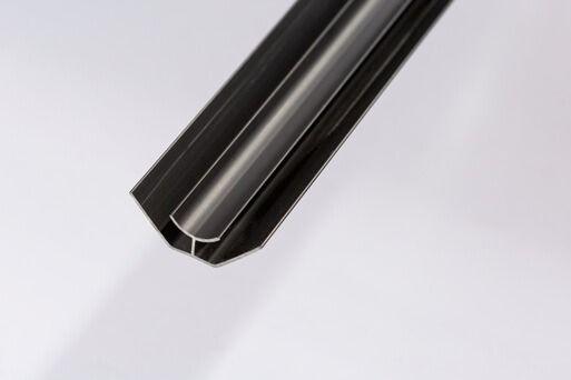 Bathroom & Kitchen Cladding Aqua200/250 PVC Internal Corner - 2700mm Black