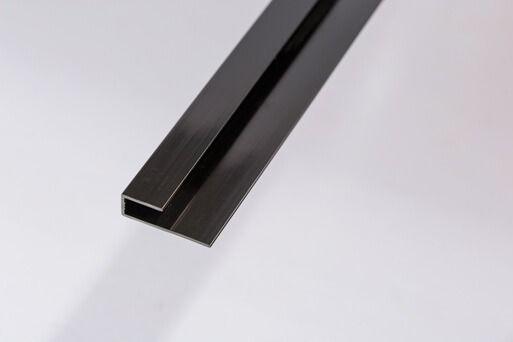 Bathroom & Kitchen Cladding Aqua200/250 PVC Starter/Edge Trim U Channel for Wall/ Ceiling - 2700mm Black