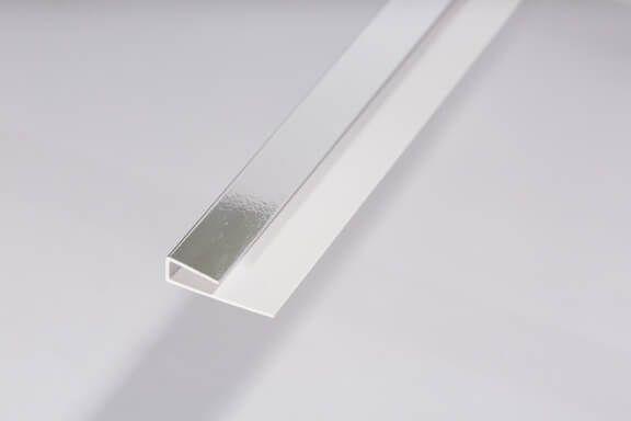 Bathroom & Kitchen Cladding Aqua200/250 PVC Starter/Edge Trim U Channel for Wall/ Ceiling - 2700mm Chrome
