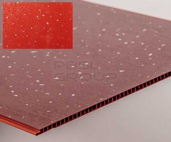 Bathroom & Kitchen Cladding Aqua250 PVC Panel - 250mm x 2700mm x 5mm Red Sparkle - Pack of 4