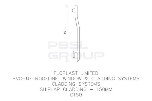 Shiplap Cladding - 150mm x 5mtr White - Pack of 5