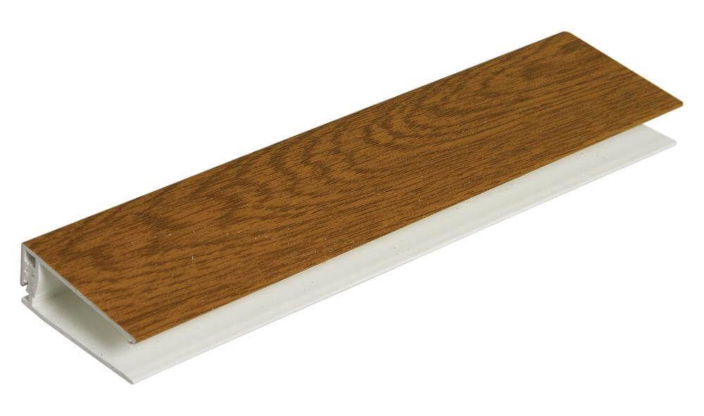 Shiplap Cladding Two Part Top Edge Trim - 5mtr Golden Oak