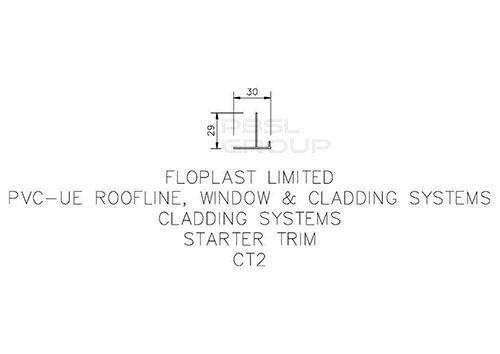 Shiplap Cladding Starter Trim - 5mtr White