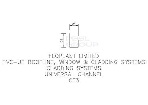 Shiplap Cladding Universal Channel - 5mtr Golden Oak