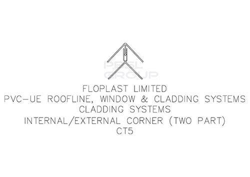 Shiplap Cladding External Corner - 5mtr Black Ash Woodgrain