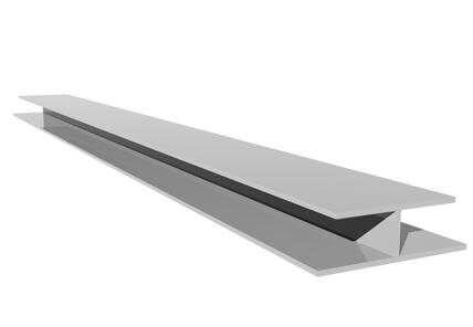 Shiplap Cladding Centre Joint Trim - 5mtr White