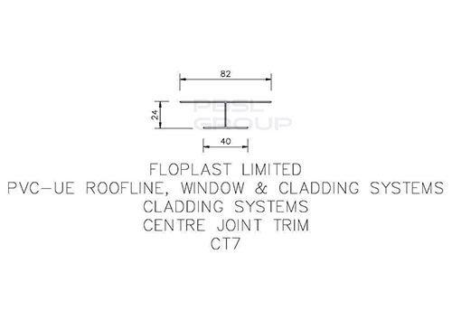Shiplap Cladding Centre Joint Trim - 5mtr Black Ash Woodgrain