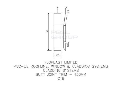 Shiplap Cladding Butt Joint - 150mm Anthracite Grey Woodgrain