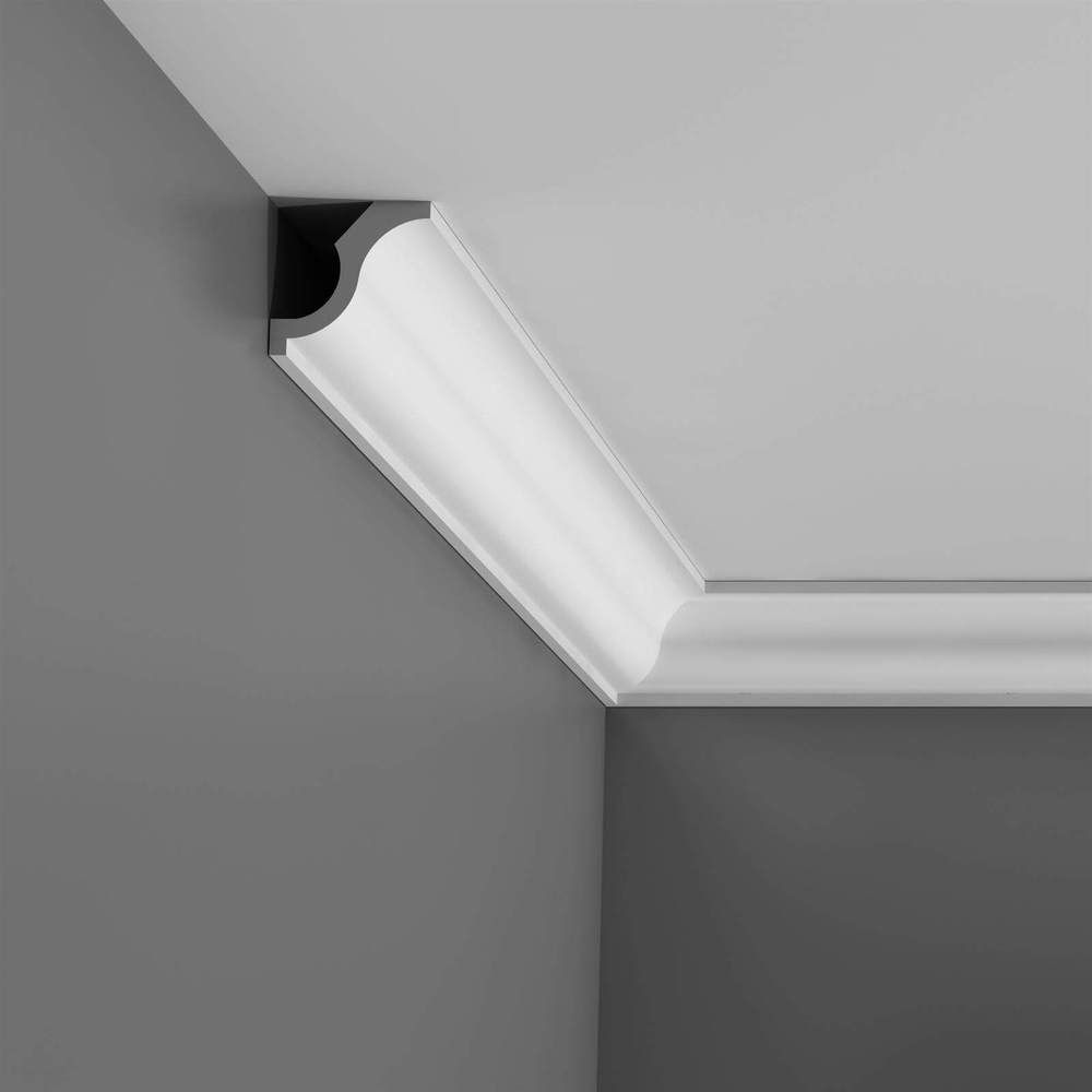 Cornice Moulding Axxent Collection - 2000mm x 55mm x 55mm Oxford Style White
