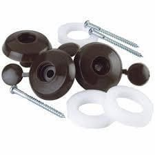 Fixing Buttons - for 10mm Polycarbonate Sheets Brown - Box of 10