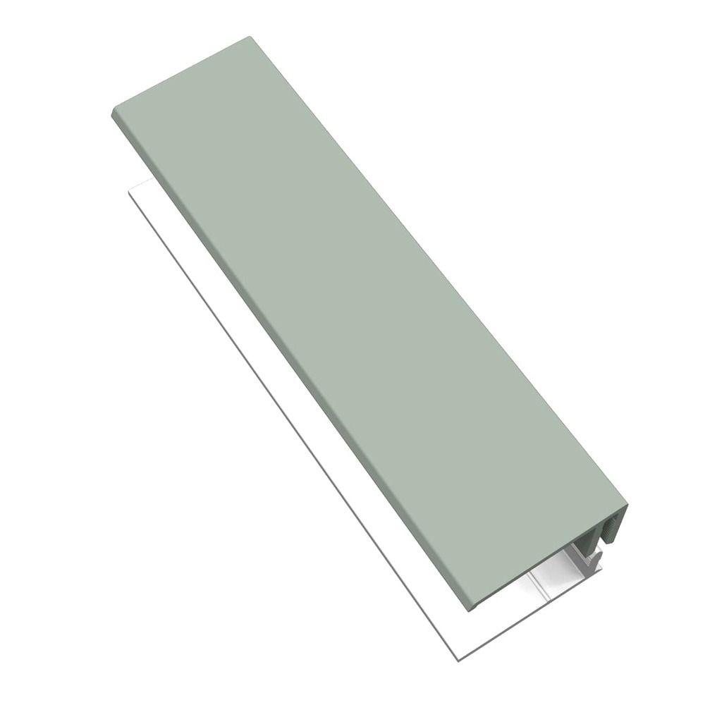 Weatherboard Cladding Two Part Edge Trim - 3mtr Sage Green
