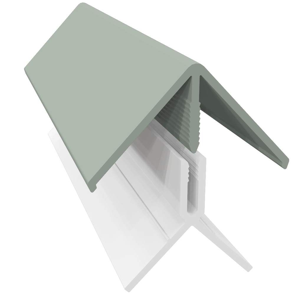 Weatherboard Cladding Two Part External Corner - Sage Green