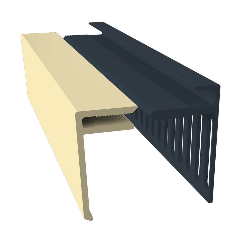 Weatherboard Cladding Vented Top Edge Closer Trim - 25mm Sand