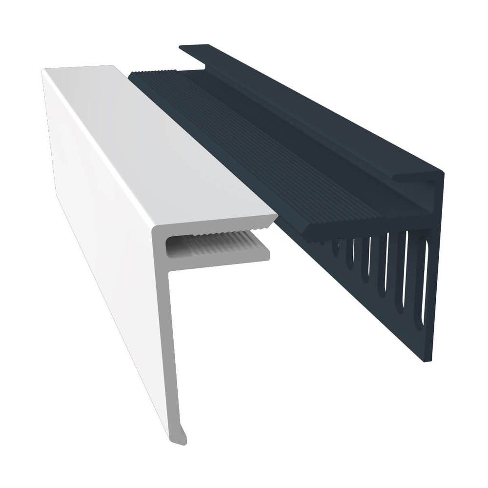Weatherboard Cladding Vented Top Edge Closer Trim - 25mm White