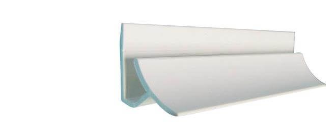 Hygiene Cladding Internal Corner - for 2-3mm Sheets x 3mtr Length White