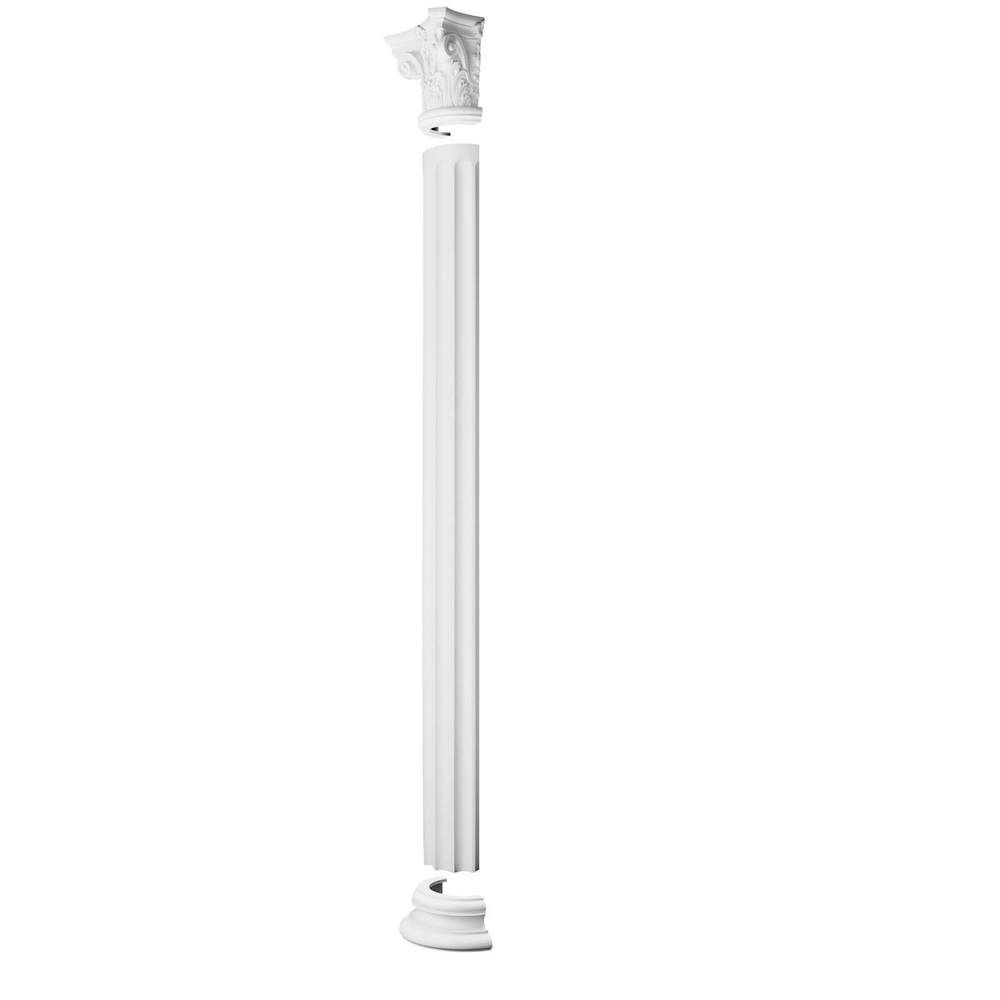 Half Column Corinthian - White