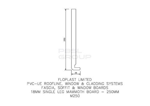 Replacement Fascia - 250mm x 18mm x 5mtr White