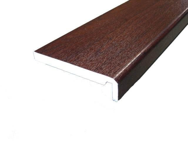 Replacement Fascia Box End - 404mm x 18mm x 1.25mtr Rosewood