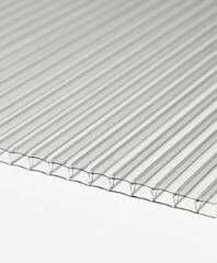 Polycarbonate Sheet Twinwall - 10mm x 600mm x 2mtr Clear