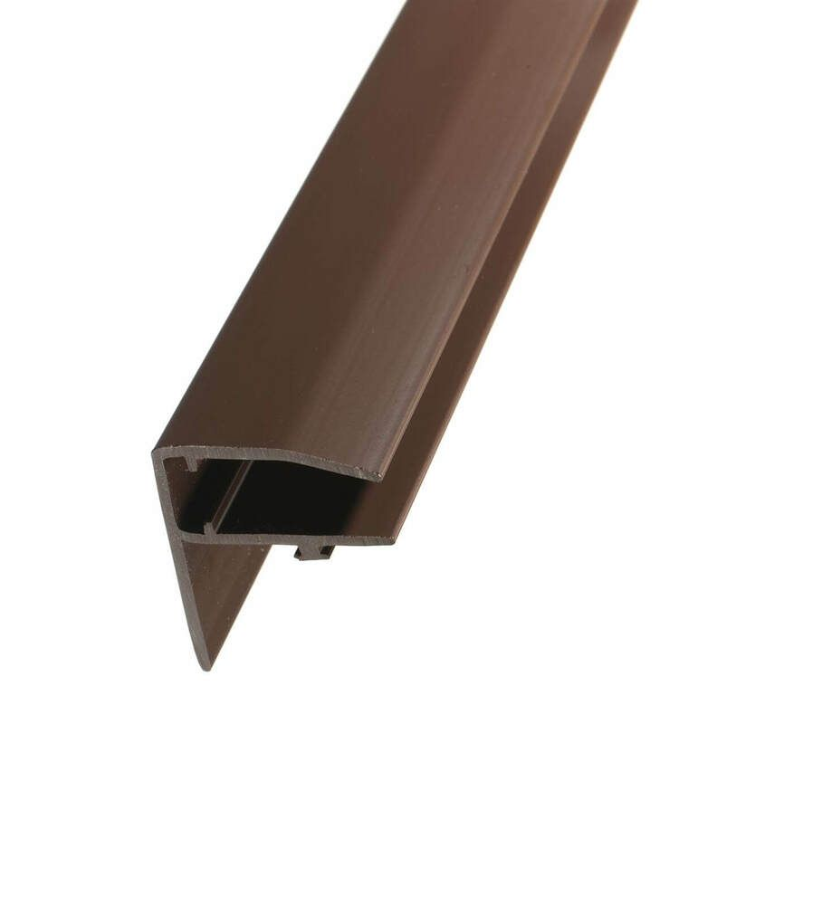 PVC F Section Rafter Supported - 25mm x 3mtr Brown