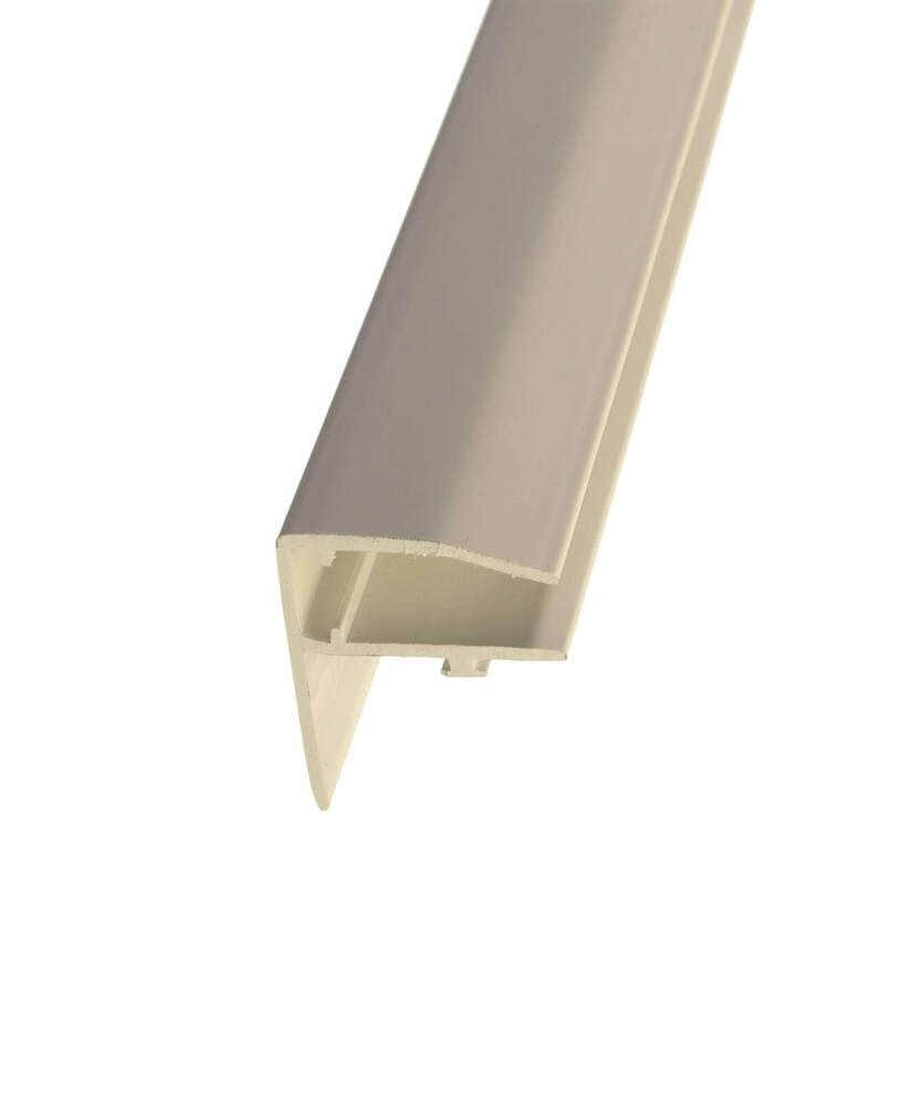 PVC F Section Rafter Supported - 25mm x 3mtr White