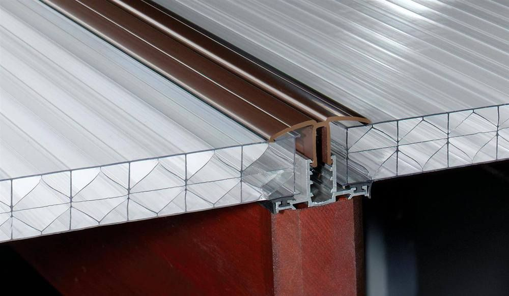 PVC Capped Rafter Bar Rafter Supported - 4mtr Brown