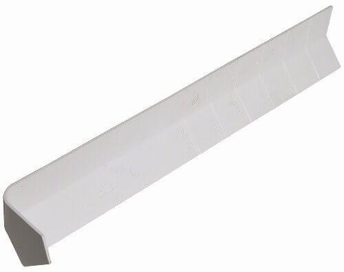 Cover Board External Corner Joint Trim - 135 Degree x 300mm White