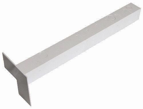 Ogee Fascia Internal Corner - 300mm White