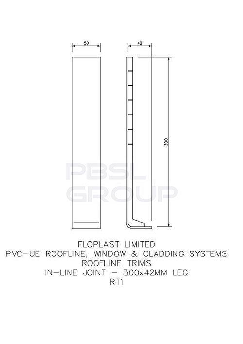 Cover Board Joint - 300mm Golden Oak