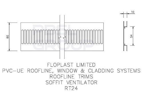 Soffit Strip Ventilator - 5mtr White