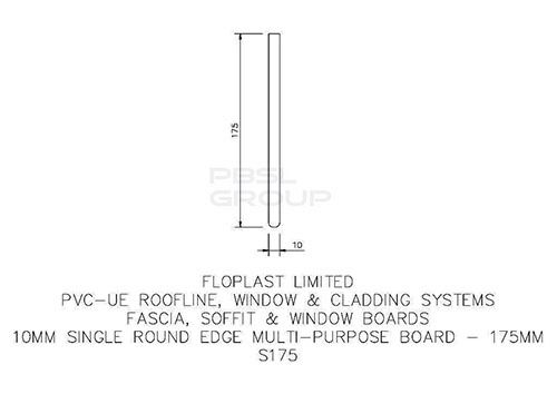 Soffit Board - 175mm x 10mm x 5mtr White